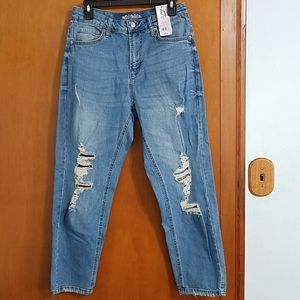 NWT Wild Fable high rise distressed mom jeans